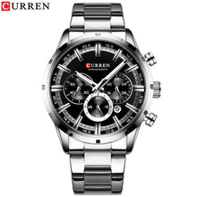 Load image into Gallery viewer, CURREN Stainless Steel Chronograph Quartz Watch 5 Styles