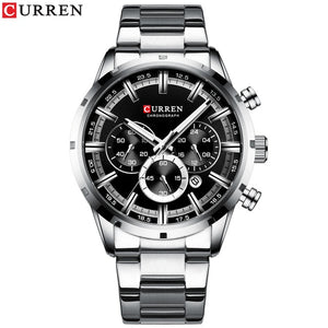 CURREN Stainless Steel Chronograph Quartz Watch 5 Styles