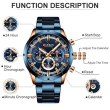 Load image into Gallery viewer, CURREN  Chronograph Wristwatch