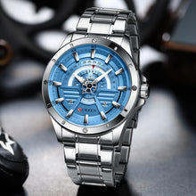 Load image into Gallery viewer, CURREN  Silver blue montre homme