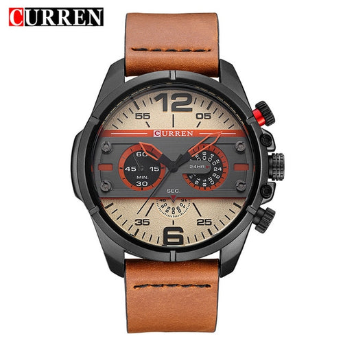 CURREN Quartz Waterproof Military Sport Clock