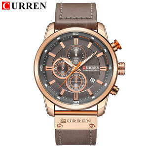 CURREN Rose Gold Sports Chronograph