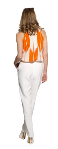 SEIDEN-TOP IN ORANGE CREME