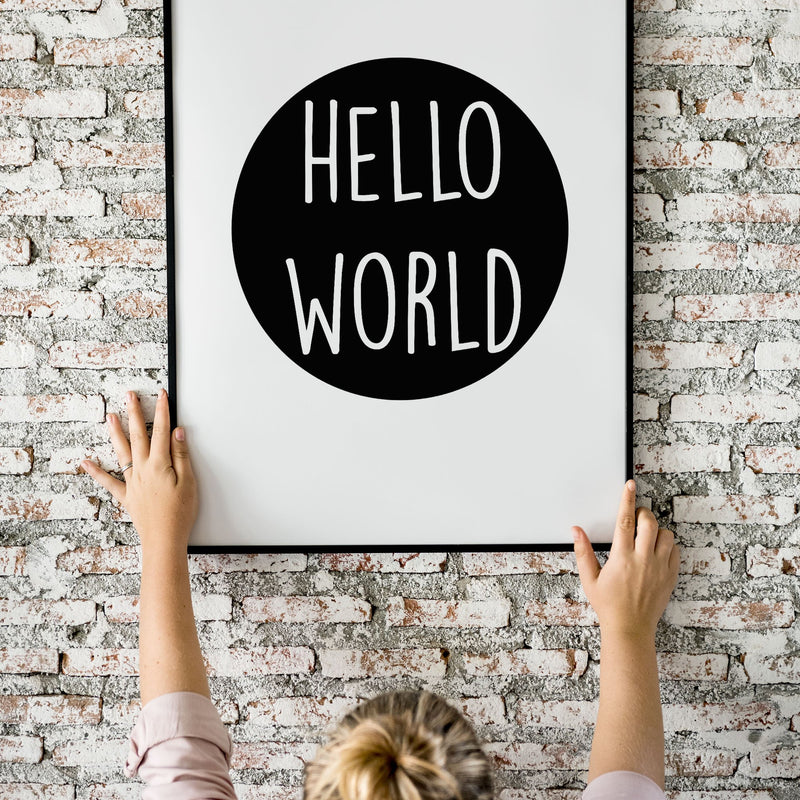Hello World Wall Print