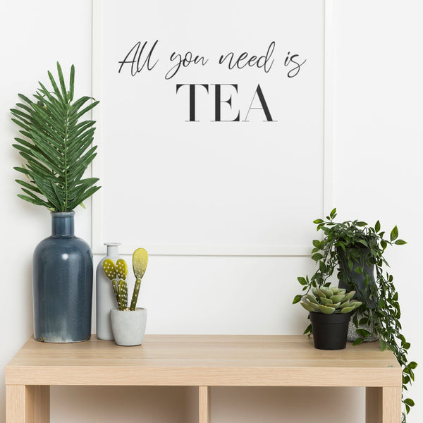 All You Need Is Tea Wall Print