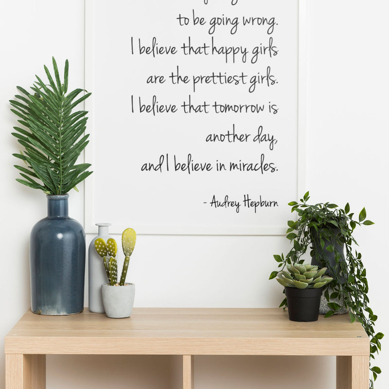 Audrey Hepburn - I Believe In Being Strong Wall Print