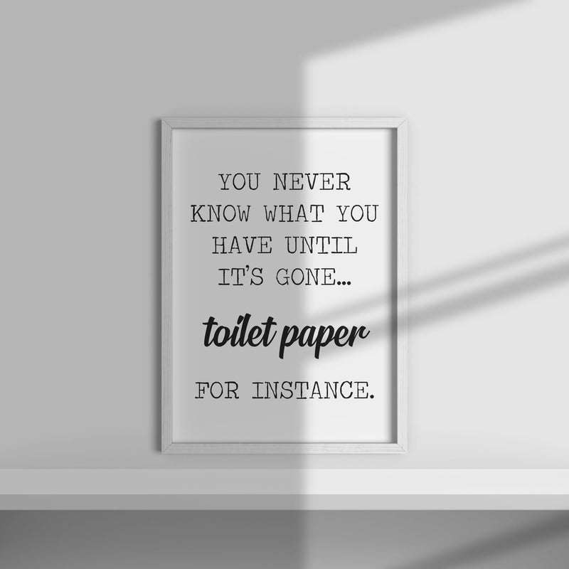 Out Of Toilet Roll Wall Print