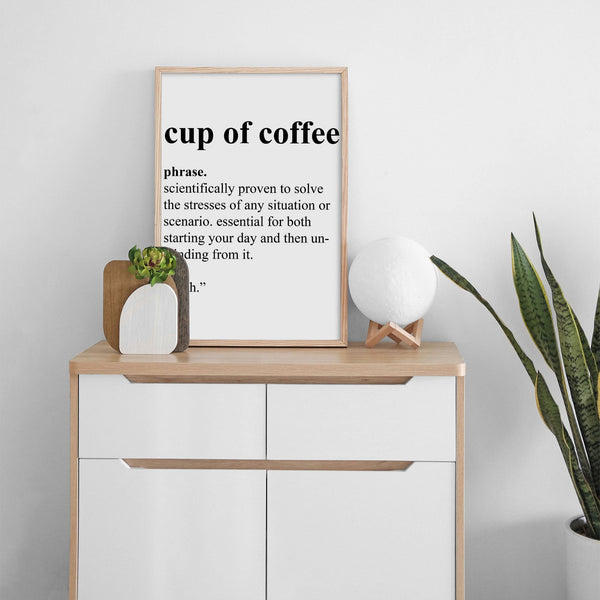 Cup Of Coffee Wall Print