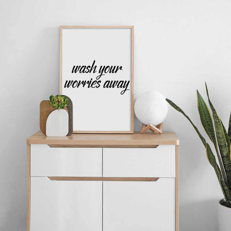 Wash Your Worries Away Wall Print