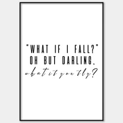 What If I Fall Wall Print