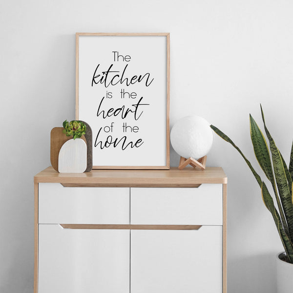 The Kitchen Is The Heart Of The Home Wall Print