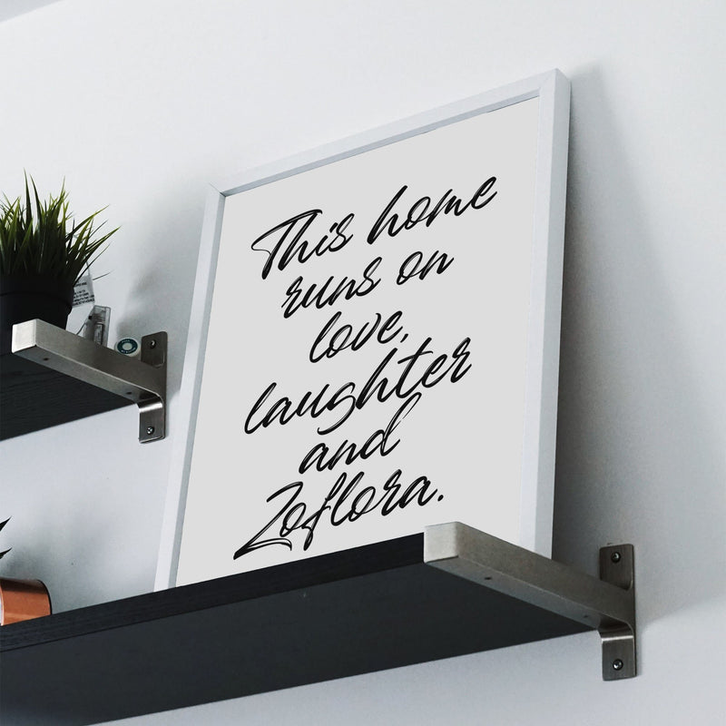 This Home Runs On Love Wall Print