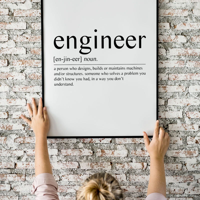 Engineer - Sans Wall Print