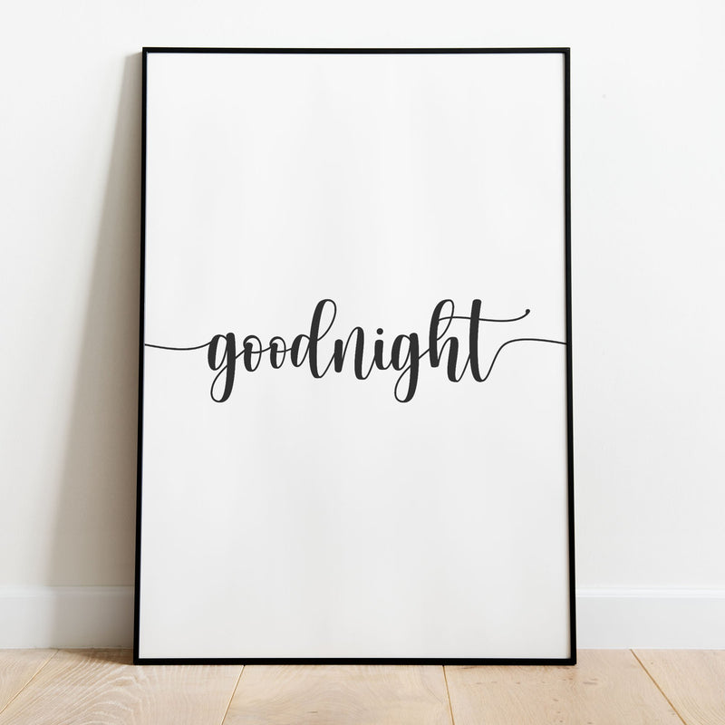 Goodnight Wall Print