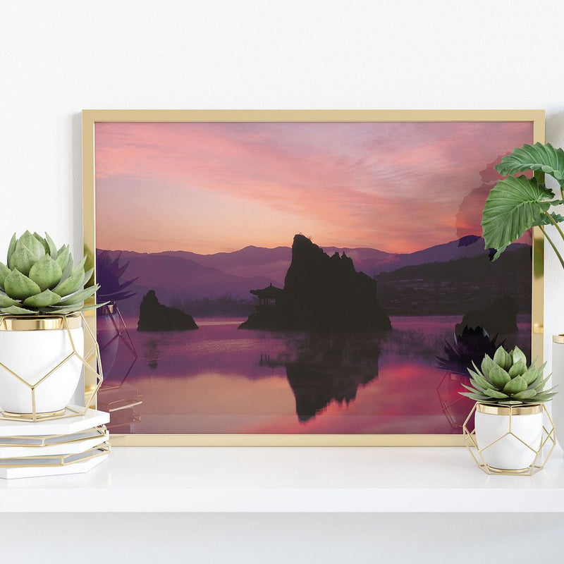 Idyllic Lake at Sunset Alaska Wall Poster