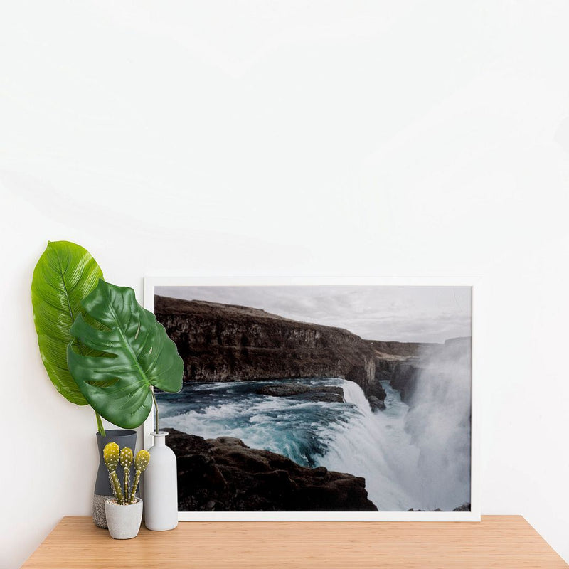 Scenic View of Beautiful Waterfalls Wall Poster