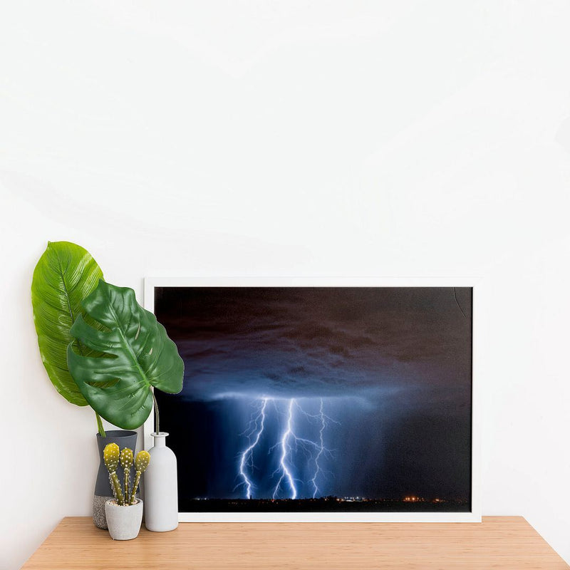 Dark Lightning Wall Poster