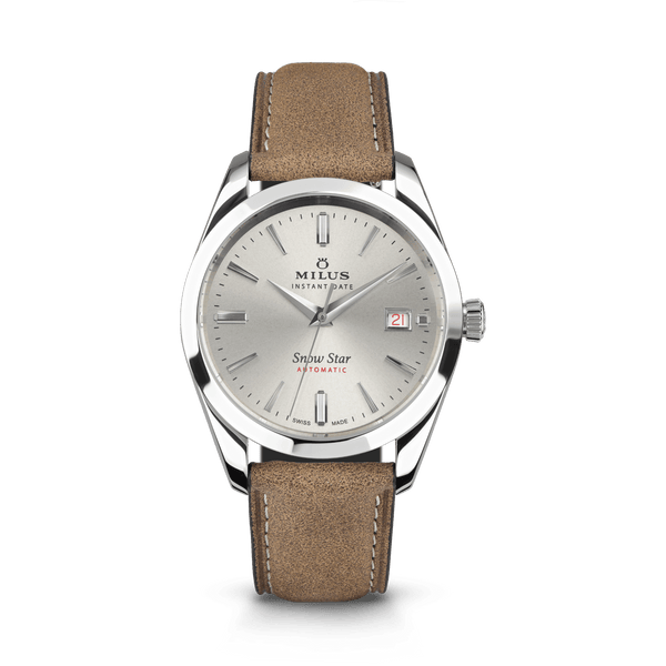 Beige - Leather Strap