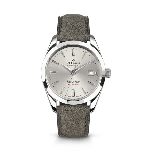 Grey - Leather Strap