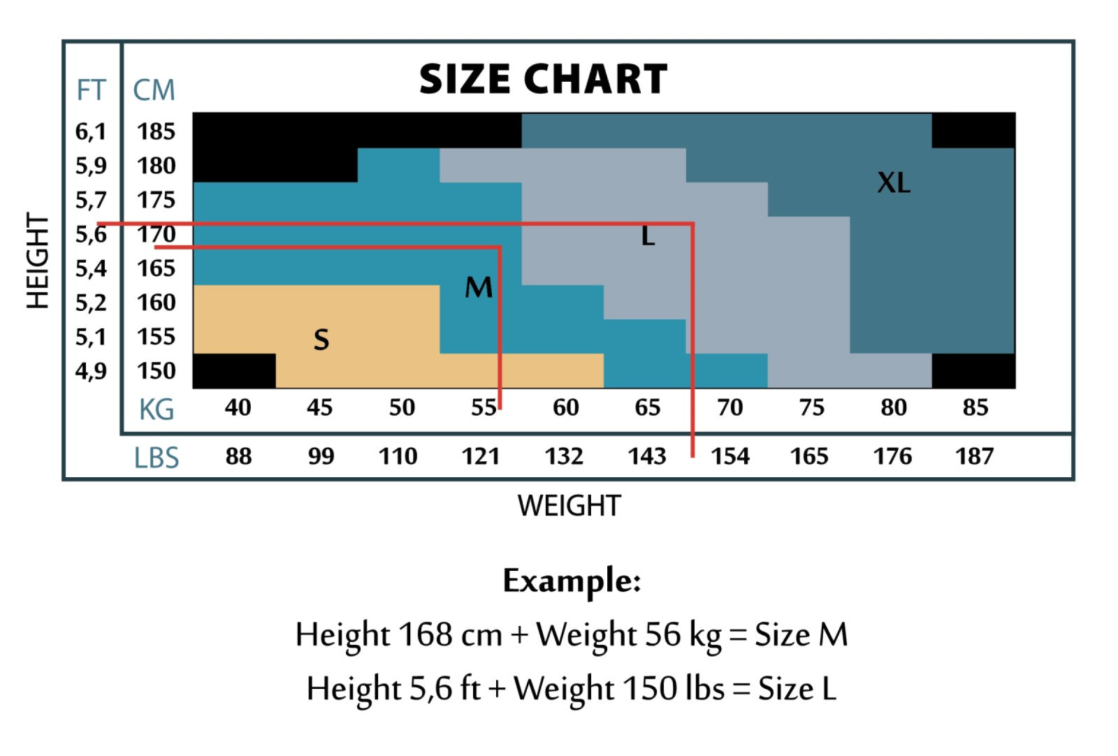 hosetess tights size chart