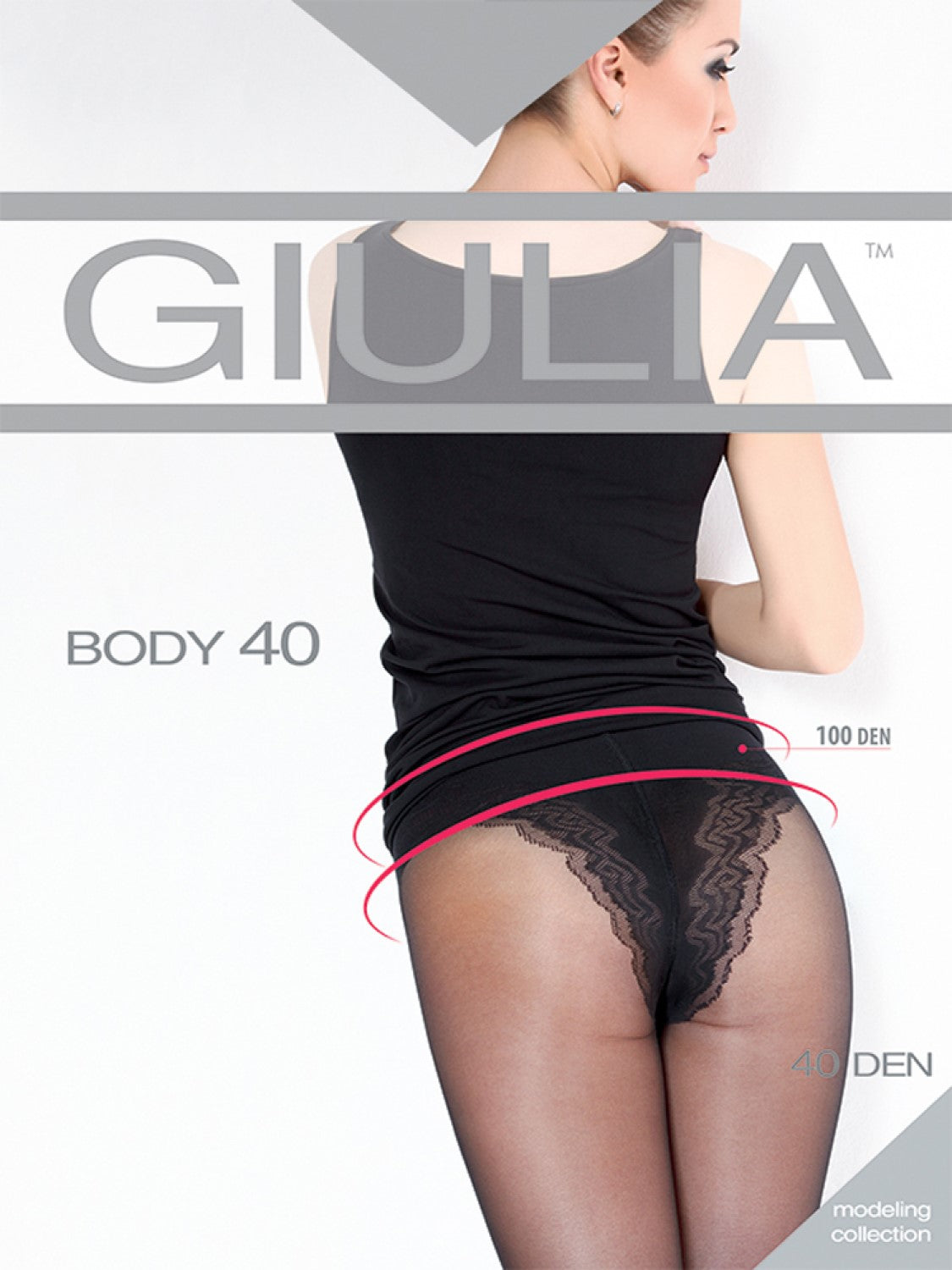 Giulia Body tights with bikini brief and targeted tummy control