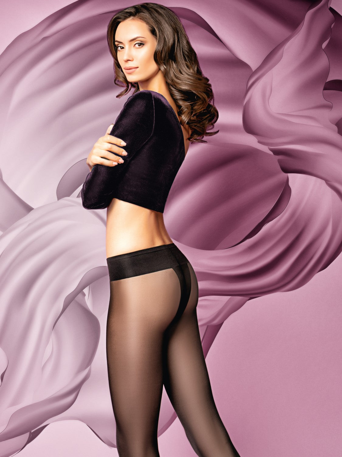 Giulia Sensi 40 denier low rise stockings 1
