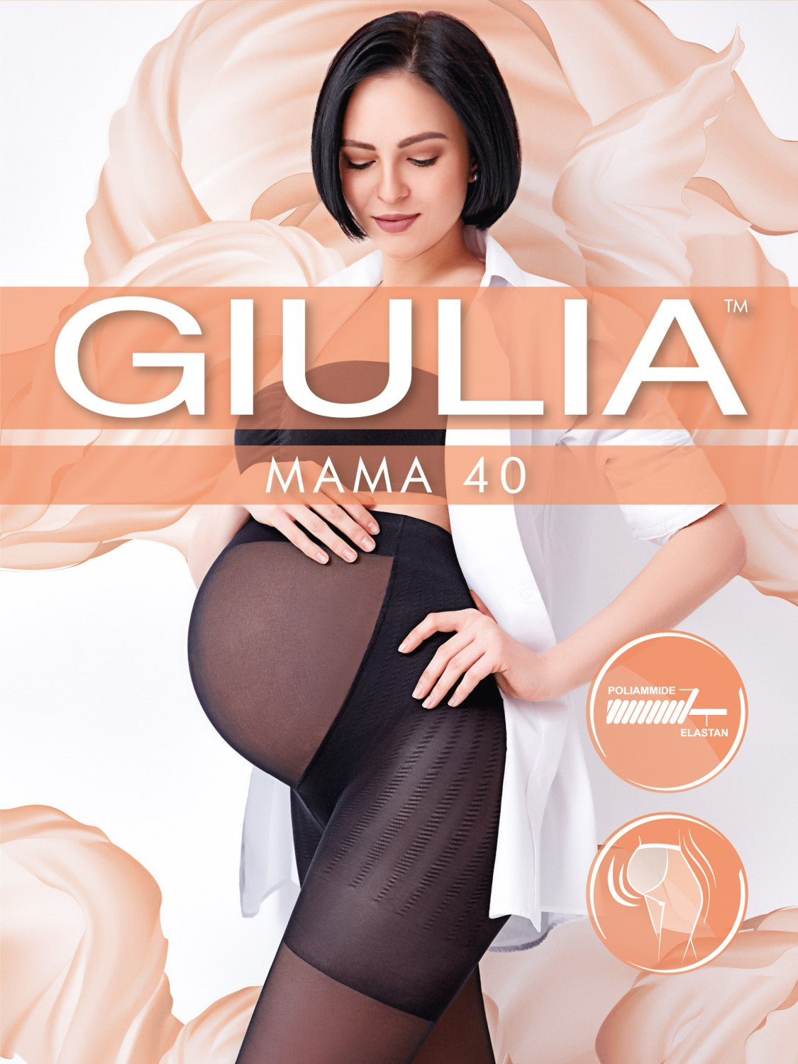 Giulia Mama 40 denier maternity tights