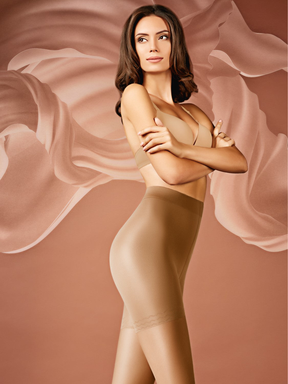 sofsy High Waisted Slimming Tights For Women 30 Den Shaping Semi Sheer Pantyhose Made in Italy