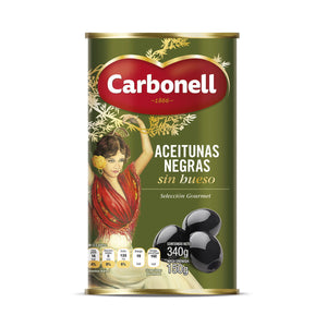 Aceitunas negras sin hueso Carbonell 340 g