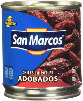 Chiles chipotles adobados San Marcos 215 g