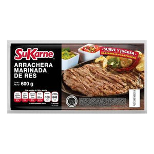 Arrachera de res SuKarne marinada 600 g