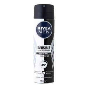 Antitranspirante Nivea Men black and white power en aerosol para caballero 150 ml
