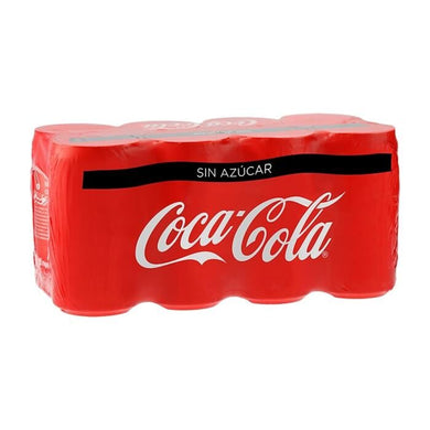 Refresco Coca Cola sin azúcar, mini latas 8 pack de 235 ml c/u