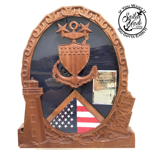 Coast Guard Light House Shadow Box
