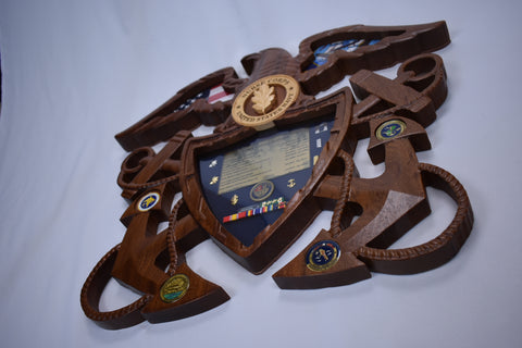 Navy Officers Crest Shadow Box