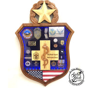 Air Force Medic Badge Shadow Box