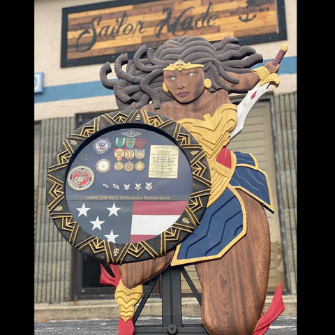 4ft tall by 3ft wide Nubia Wonder Woman