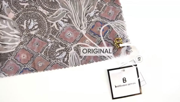 gold charm Buttonscarves