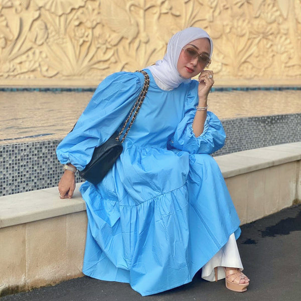 blue tiered dress for blog