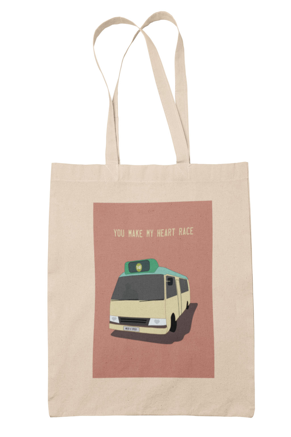 You Make My Heart Race Tote