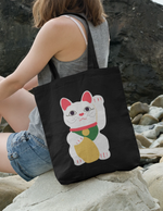 Lucky Cat Tote | Black