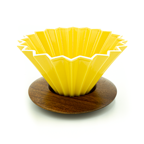 Yellow Origami Dripper - CoffeeNutz®