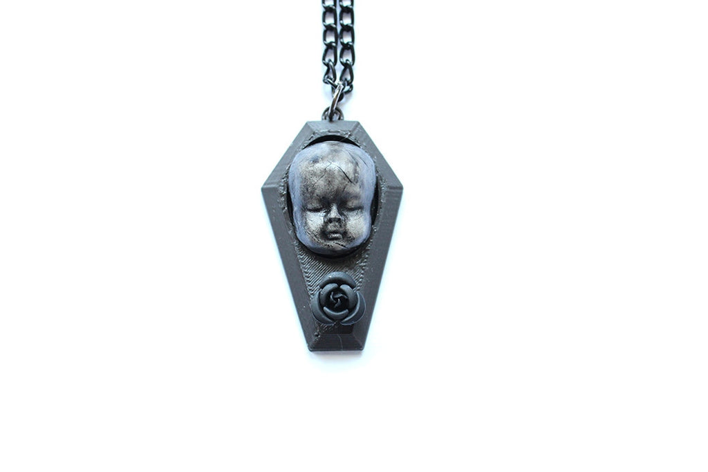 Baby Doll Coffin Necklace