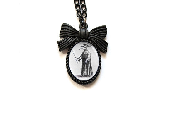 Plague Doctor Mini Bow Necklace
