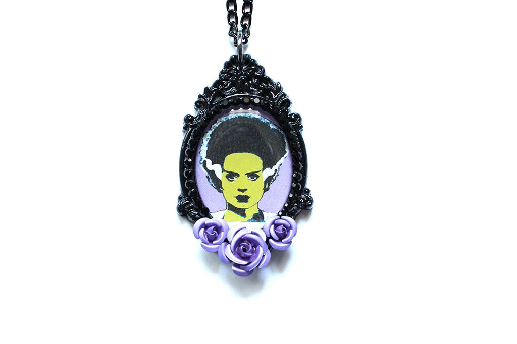 Bride of Frankenstein Rose Necklace