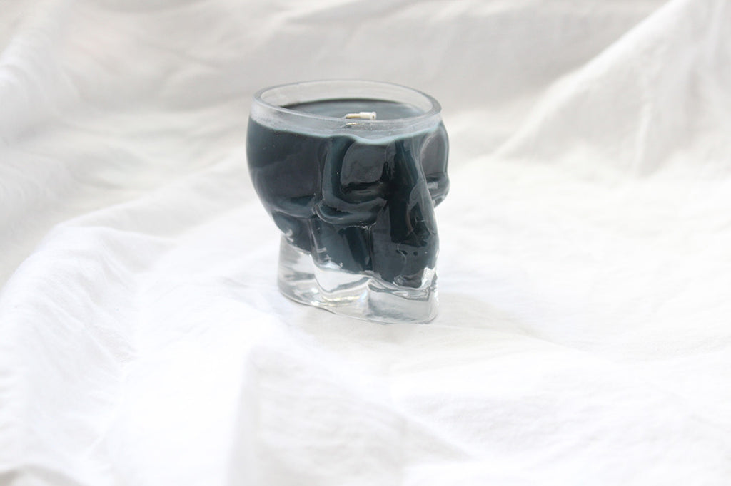 Skull Glass Black Midnight Soy Candle