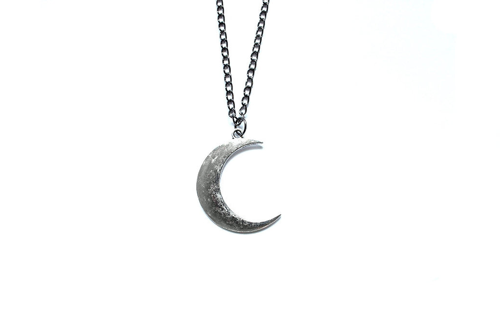 Crescent Moon Silver Necklace