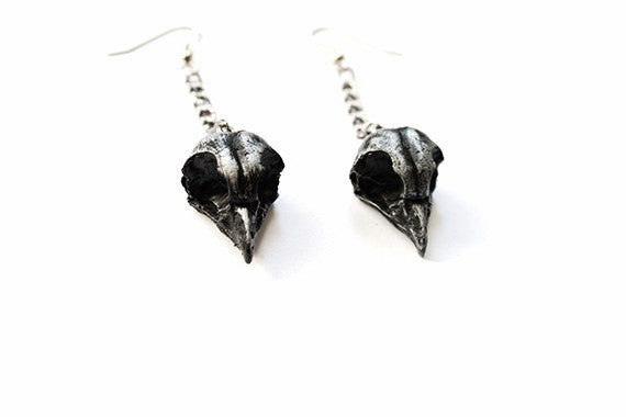 Javan Owl Skull Earrings
