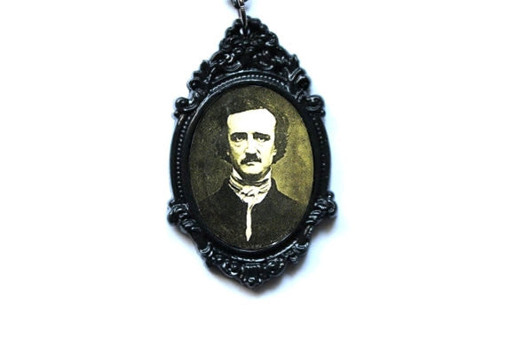 Edgar Allan Poe Cameo Portrait Necklace