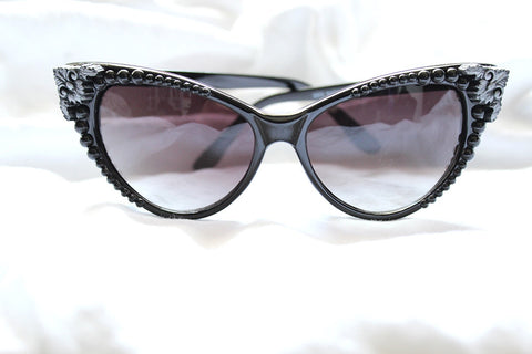 Filigree Pearl Cat Eye Sunglasses